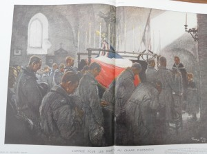 L'office pour les morts au champ d'honneur (dessin de G.Scott) L'ILLUSTRATION