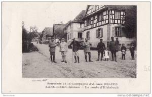 Largitzen . Route d'Hirtsbach