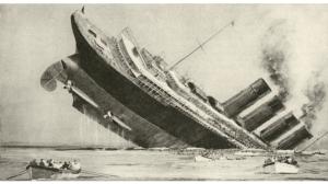 naufrage du Lusitania par une torpille allemande